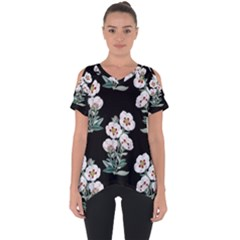 Floral Vintage Wallpaper Pattern 1516863120hfa Cut Out Side Drop Tee