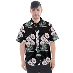 Floral Vintage Wallpaper Pattern 1516863120hfa Men s Short Sleeve Shirt