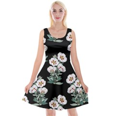 Floral Vintage Wallpaper Pattern 1516863120hfa Reversible Velvet Sleeveless Dress