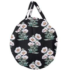 Floral Vintage Wallpaper Pattern 1516863120hfa Giant Round Zipper Tote