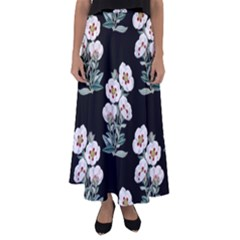 Floral Vintage Wallpaper Pattern 1516863120hfa Flared Maxi Skirt