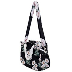 Floral Vintage Wallpaper Pattern 1516863120hfa Rope Handles Shoulder Strap Bag