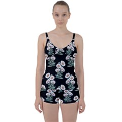 Floral Vintage Wallpaper Pattern 1516863120hfa Tie Front Two Piece Tankini