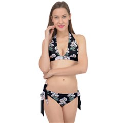 Floral Vintage Wallpaper Pattern 1516863120hfa Tie It Up Bikini Set