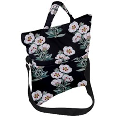 Floral Vintage Wallpaper Pattern 1516863120hfa Fold Over Handle Tote Bag