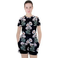 Floral Vintage Wallpaper Pattern 1516863120hfa Women s Tee And Shorts Set
