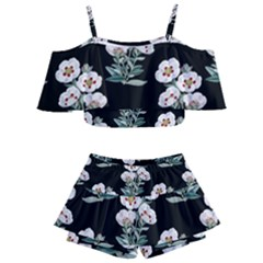 Floral Vintage Wallpaper Pattern 1516863120hfa Kids  Off Shoulder Skirt Bikini