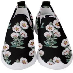 Floral Vintage Wallpaper Pattern 1516863120hfa Kids  Slip On Sneakers