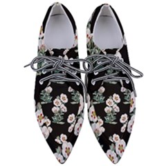 Floral Vintage Wallpaper Pattern 1516863120hfa Women s Pointed Oxford Shoes