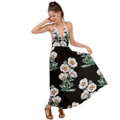 Floral Vintage Wallpaper Pattern 1516863120hfa Backless Maxi Beach Dress