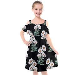 Floral Vintage Wallpaper Pattern 1516863120hfa Kids  Cut Out Shoulders Chiffon Dress