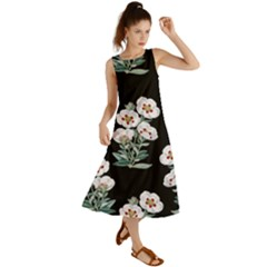Floral Vintage Wallpaper Pattern 1516863120hfa Summer Maxi Dress