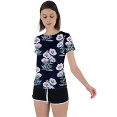Floral Vintage Wallpaper Pattern 1516863120hfa Back Circle Cutout Sports Tee