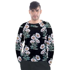 Floral Vintage Wallpaper Pattern 1516863120hfa Men s Long Sleeve Raglan Tee