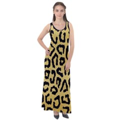 Ghepard Gold  Sleeveless Velour Maxi Dress