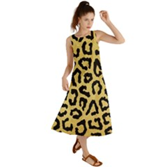 Ghepard Gold  Summer Maxi Dress