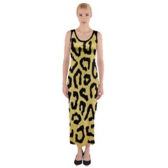 Ghepard Gold  Fitted Maxi Dress