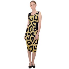 Ghepard Gold  Sleeveless Pencil Dress