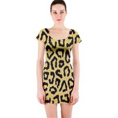 Ghepard Gold  Short Sleeve Bodycon Dress by AngelsForMe