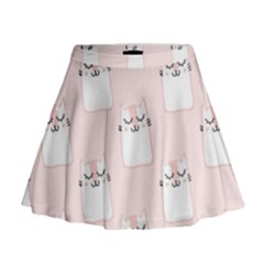 Pattern With Cats Mini Flare Skirt by Sobalvarro