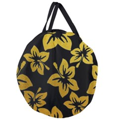Gigli Gold Giant Round Zipper Tote