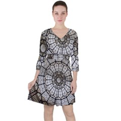 Pattern Abstract Structure Art Ruffle Dress by Nexatart
