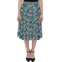 Heavy Metal Hearts And Belive In Sweet Love Classic Midi Skirt by pepitasart