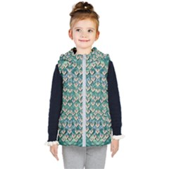 Heavy Metal Hearts And Belive In Sweet Love Kids  Hooded Puffer Vest by pepitasart