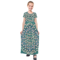 Heavy Metal Hearts And Belive In Sweet Love Kids  Short Sleeve Maxi Dress by pepitasart