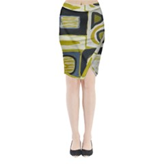 Abstract Landscape  Midi Wrap Pencil Skirt by Sobalvarro