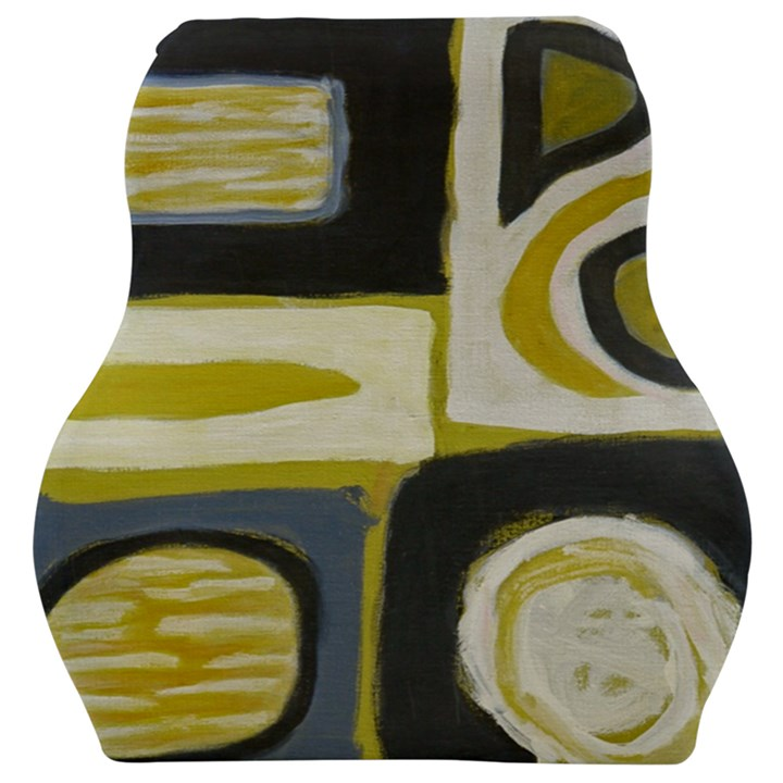 Abstract landscape  Car Seat Velour Cushion