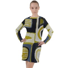 Abstract Landscape  Long Sleeve Hoodie Dress by Sobalvarro