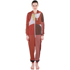 Sophie Taeuber Arp, Composition À Motifs D arceaux Ou Composition Horizontale Verticale Hooded Jumpsuit (ladies)  by Sobalvarro