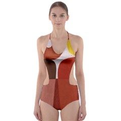 Sophie Taeuber Arp, Composition À Motifs D arceaux Ou Composition Horizontale Verticale Cut-out One Piece Swimsuit by Sobalvarro