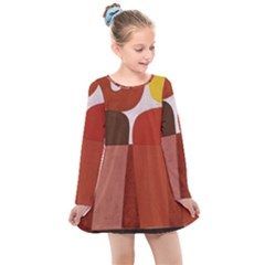 Sophie Taeuber Arp, Composition À Motifs D arceaux Ou Composition Horizontale Verticale Kids  Long Sleeve Dress by Sobalvarro