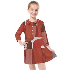 Sophie Taeuber Arp, Composition À Motifs D arceaux Ou Composition Horizontale Verticale Kids  Quarter Sleeve Shirt Dress by Sobalvarro