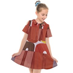 Sophie Taeuber Arp, Composition À Motifs D arceaux Ou Composition Horizontale Verticale Kids  Short Sleeve Shirt Dress by Sobalvarro
