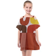 Sophie Taeuber Arp, Composition À Motifs D arceaux Ou Composition Horizontale Verticale Kids  One Piece Chiffon Dress by Sobalvarro