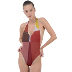 Sophie Taeuber Arp, Composition À Motifs D arceaux Ou Composition Horizontale Verticale Backless Halter One Piece Swimsuit by Sobalvarro