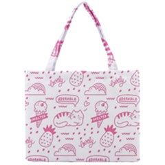 Cute Girly Seamless Pattern Mini Tote Bag