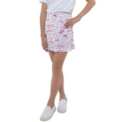 Cute Girly Seamless Pattern Kids  Tennis Skirt by Vaneshart