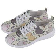 Funny Cartoon Cats Seamless Pattern  Men s Lightweight Sports Shoes by Vaneshart