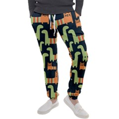 Seamless Pattern With Cats Men s Jogger Sweatpants by Vaneshart