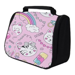 Beautiful Cute Animals Pattern Pink Full Print Travel Pouch (small)
