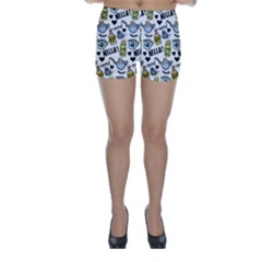 Everyday Things Pattern Skinny Shorts by Vaneshart