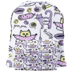 Hand Drawn Cute Cat Pattern Giant Full Print Backpack