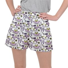 Hand Drawn Cute Cat Pattern Ripstop Shorts by Vaneshart