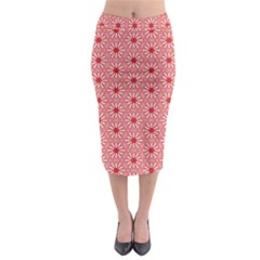 Fiery Red #4 Midi Pencil Skirt
