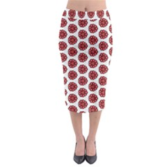 Fiery Red #5 Midi Pencil Skirt