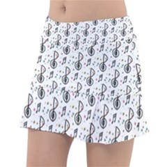 Musical Notes Pattern Tennis Skorts